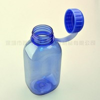 1000ml blue eco-friendly insulated flat plastic water bottle wholesale