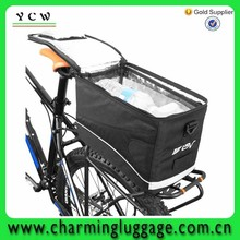2015 New Fashionable black BV insulated trunk bike cooler bag/aluminium foil cooler bag