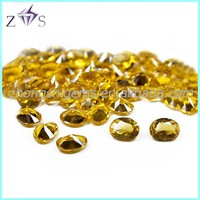 loose synthetic Nano yellow spinel gemstone