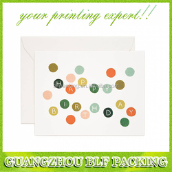 (BLF-GC056) polka dots simple design birthday card