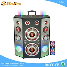 professional audio KTV player ,POWER 15 INCH SUBWOOFER ,Horn speaker with USB,SD,FM,built-in battery
