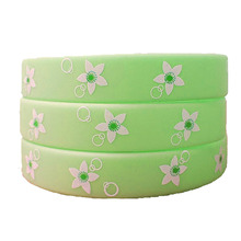 Fashion colorful printed silicone bracelet for gifts