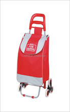 logo-printing promotional folding Shopping Trolley Bag with wheels, shopping cart