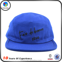 leather strap blue 5 panel cap pattern