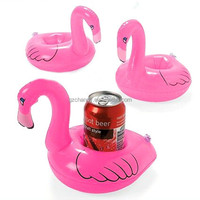 Excellent qualiy Mini Cute Flamingo Drink Can Holder PVC Inflatable Floating Swimming Pool Bathing Beach Party Kids Toy Bath Toy