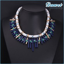 2015 new folk style of Europe and the United States the pure hand knitted Beaded Chain Necklace
