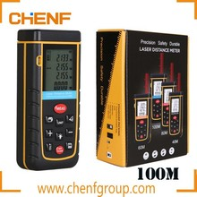 Newest Design Portable Digital 1.9 inch LCD 100m Hand-held Laser Distance Meter with Level Bubble