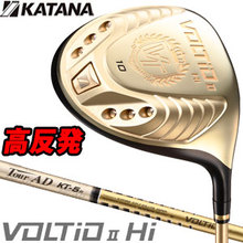 Katana Golf 2014 model VOLTIO II HI-COR Driver with graphite design katana original TOUR AD shaft