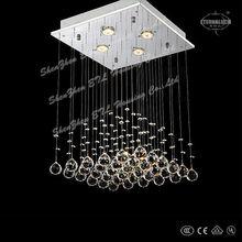 2013 cuadrada único moderna lámpara de araña de cristal para comedor de china etl82034