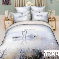 King size animal print bed sheets comforter set 100% cotton 3d print bedding cheap luxury wedding bedding set cover