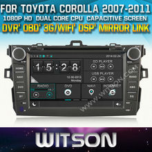 WITSON for TOYOTA COROLLA CAR DVD PLAYER 2007-2011 WITH CHIPSET 1080P 8G ROM WIFI 3G INTERNET DVR SUPPORT