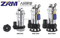 WQD 100% copper sewage submersible pump