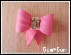 fashionable lovely wholesale rhinstone satin sharp tail bow creative personality girl bow