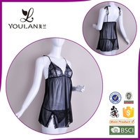 2015 New Arrival Wide Style Cute Girl Lace Sex Lingerie Hot Short Dress