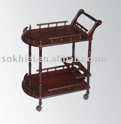Wood Serving Cart ~ Wooden tea serving cart buy