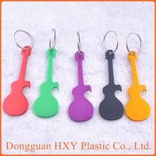 HXY Cheap Promotional Guitar Shaped Keychain, Guitar Shaped Key Chain Wholesale