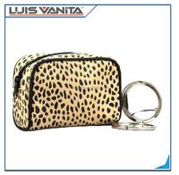 Custom Leopard printing Mini cosmetic makeup bags Wholesale