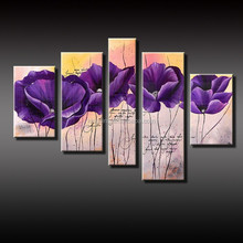 Modern Hotsale purple flower oil painting on canvas