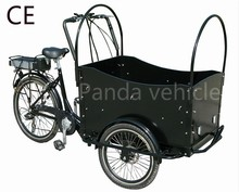 CE best price electric cargo bike family use kids three whee bicycle price