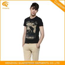 Custom Brand Men Basic Black T-Shirt