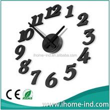 DIY EVA 3D wall sticker clock for decorative home