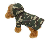 Classic top camouflage color dog two feets winter dog cloth