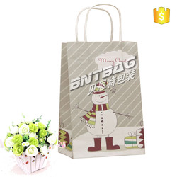 New style OEM paper bag,paper materil christmas gift bag,reusable eco shopping bag