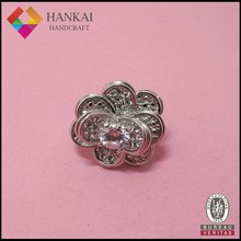 New product 2015 fashion design flower cubic zirconia stones ring