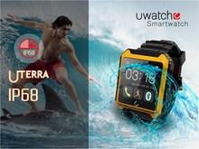 "IP68 waterproof bluetooth smart watch with 1.54"" touch screen, TPU Strap smart watch"