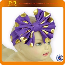 China Wholesale Price Cotton Hair Bows Headband Hair Accessories For Baby Girls