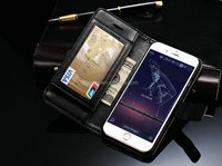 Luxury leather wallet case for iphone 6 plus case / waterproof case for iphone6