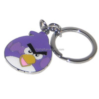 custom metal coloring Angry Birds Key Chains