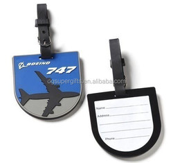 airlines blue luggage tag with handle Custom PVCmaterial baggage tags