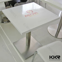 High quality varies color artificial stone mcdonald dinning table