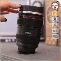 2016 New Product Innovative Camera Lens Shaped Magic Suction Mug, Mighty Mug