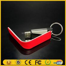 OEM gift items leather case usb flash drive goods from China