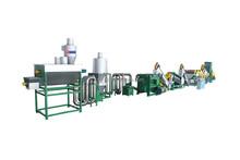 Automatic pet flakes hot washed line/waste plastic washing line/PET bottles crushing washing machine