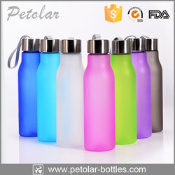 hot eco-friendly matte black massage water bottles