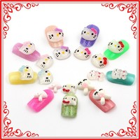 A036 Cute 500pcs Cat and Rabbit Head Style Nail Decoration Acrylic Mold for Nail Art Diy