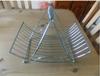 Linear Large Unique Chrome Wire Fruit Basket Rack Bowl