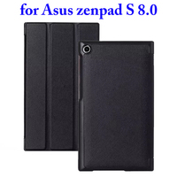 3 Folding Flip Stand PU Leather Case for Asus ZenPad S 8.0 Z580C Case