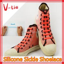 Hook style lace slip on silicone shoe lace hooks for adidas shoes