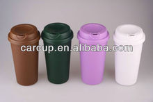 Reusable Hot Beverage Double-Wall Plastic Coffee Mug