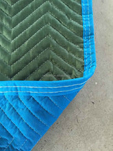 woven/non woven fabric moving blanket 72''*80'' blue/green