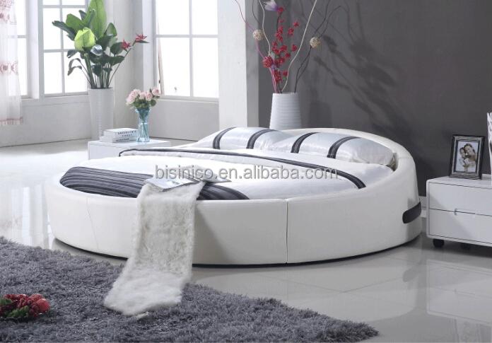 bisini king size cama redonda de couro cama redonda cama de casal cama redonda camas id do. Black Bedroom Furniture Sets. Home Design Ideas