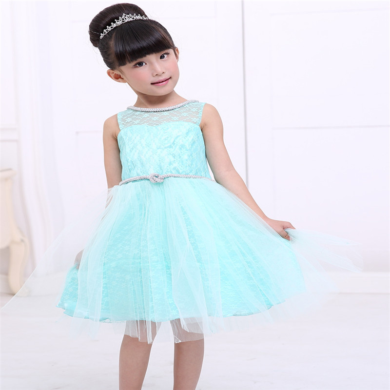 Cute Baby Girls Party Wear Dress Kids Bridesmaid Dress For 3 Years ...