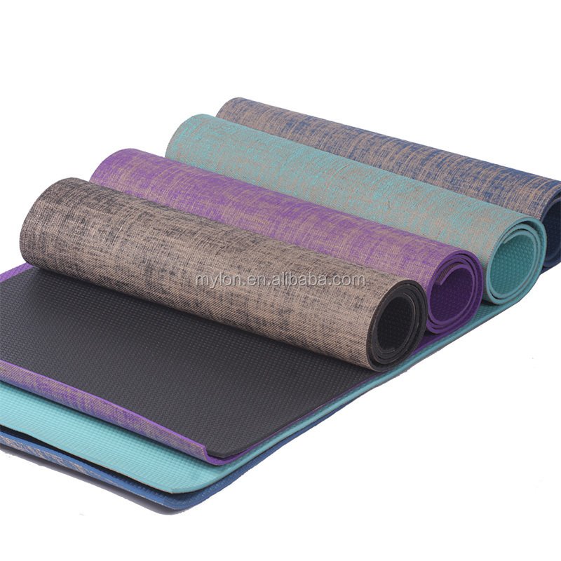 Natural Rubber Jute Yoga Mat/eco Jute Yoga Mats/fancy Jute