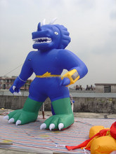 outdoor blue inflatable advertising cartoon model