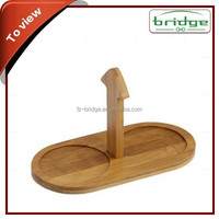 new design herb & spice tools set, ceramic spice & salt jars with bamboo racks wholesale