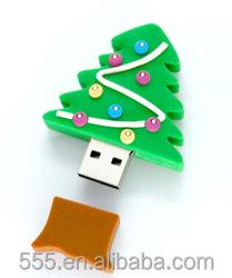 Merry chrismas pvc usb pen flash drive - new gadget gift